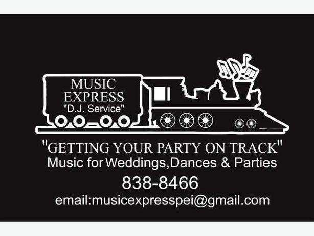 "Music Express DJ Service Disc Jockey ""Getting Your Party On Track"""