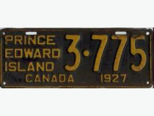 Looking for old PEI license plates (Pre 1932)