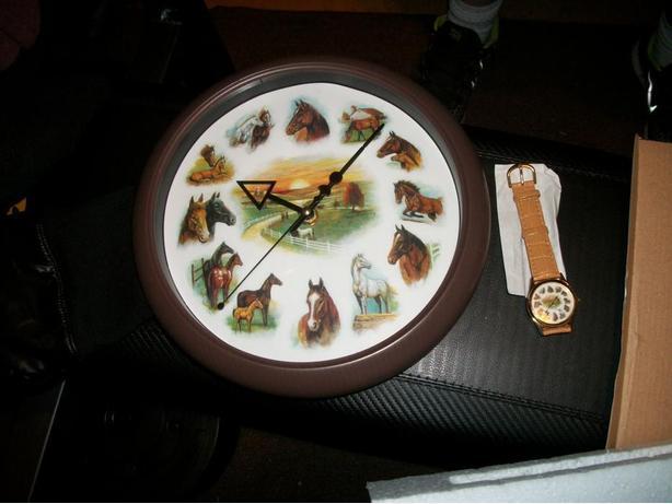 clock watch combo