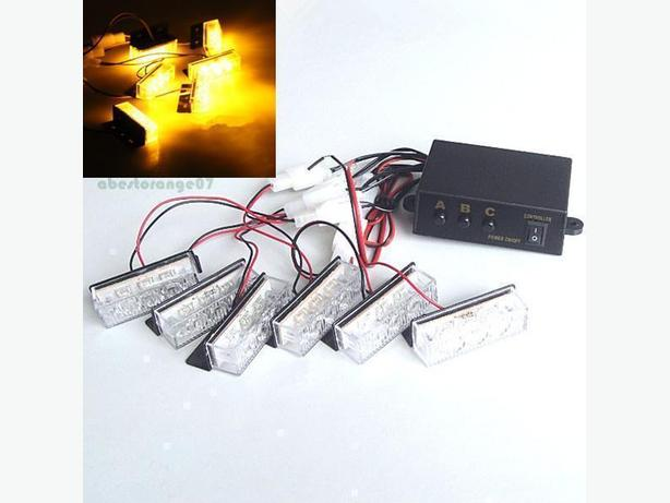 """NEW"" 12v LED Amber Flashing Grille Strobe Lights"