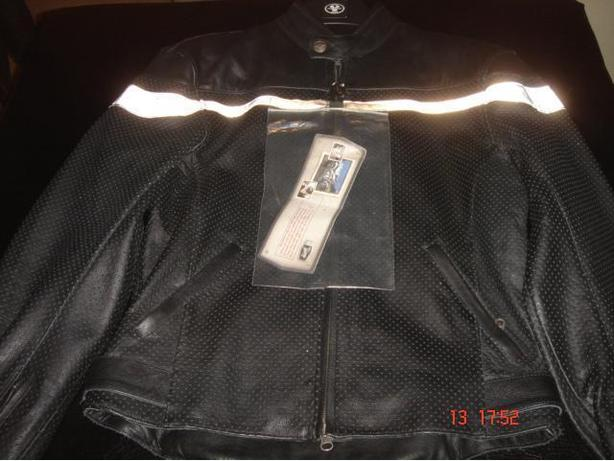 """ NEW ""Ladies Black Leather Motorcycle Jacket & Chaps"