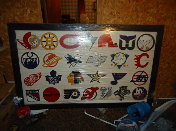 NHL 3D Logo Board
