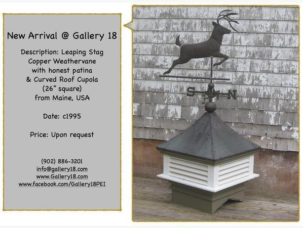 New Price - Copper Weathervane & Cupola @ Gallery 18
