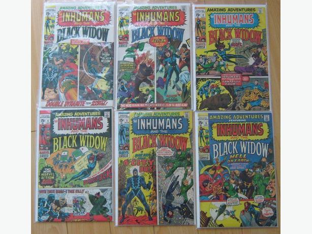 AMAZING ADVENTURES #1 to 6, Marvel, Inhumans & Black Widow