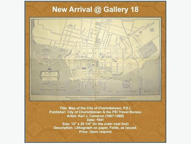1941 Map of Charlottetown by Karl J. Cameron @ Gallery 18