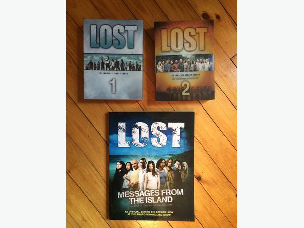 LOST Season 1 & 2 dvd sets + Lost book