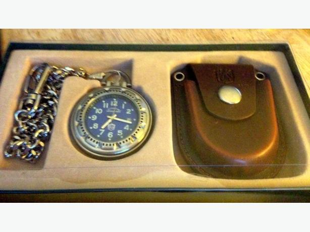 NEW OUTDOOR ADVENTURES POCKET WATCH WITH PROTECTIVE CASE