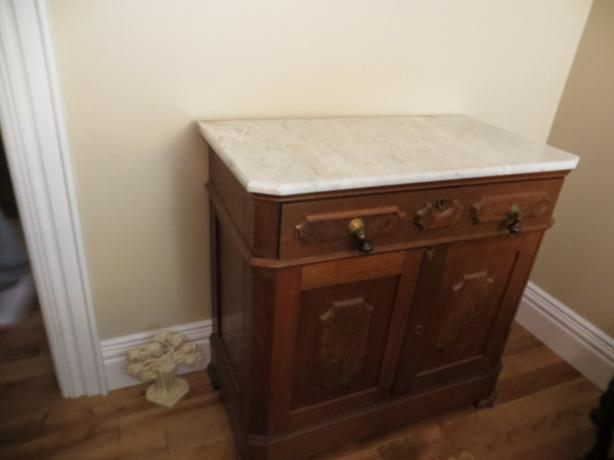 Unique Marble top Washstand/commode