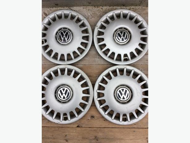Four VW hub caps