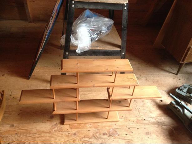wooden pine  shelves