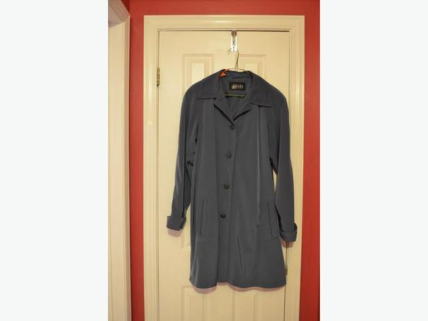 Ladies spring/fall blue coat, size 12-14