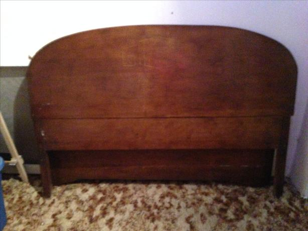 Antique Pine Head & Footboard