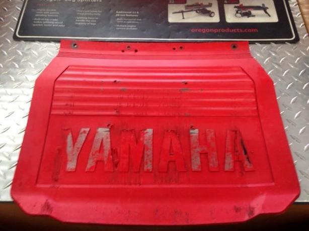 Used Red Yamaha Snow Flap