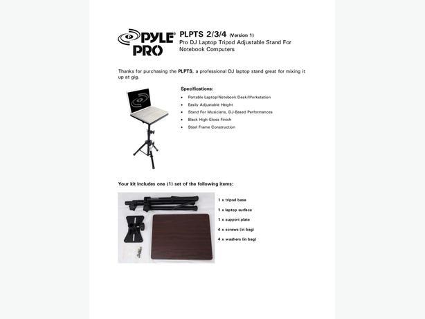 PYLE PLPTS Pro 2 Laptop Tripod Stand