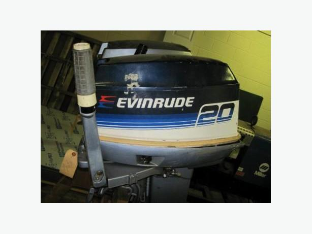 """REDUCED""  20hp Evinrude Outboard"