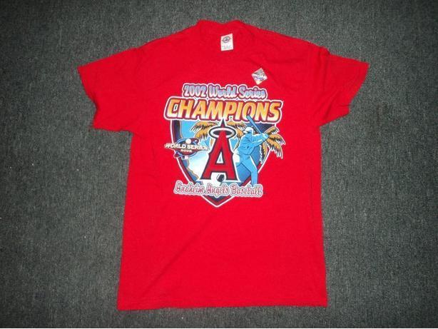 2002 World Series Champions Anaheim Angels Baseball T-shirt
