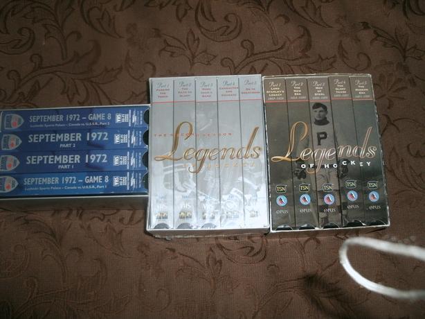 3 sets VHS hockey tapes