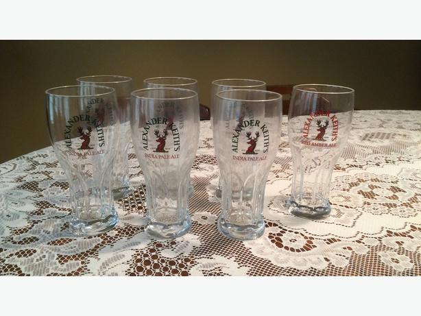 Keith's Beer Glasses (6 India Pale Ale plus 1 bonus Red Amber)