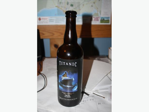 titanic beer bottle