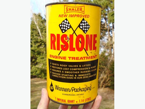 Vintage 1970's Rislone Engine Treatment Imperial Quart Can