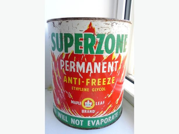 Vintage 1960's CO-OP Maple Leaf Superzone Anti-Freeze Can