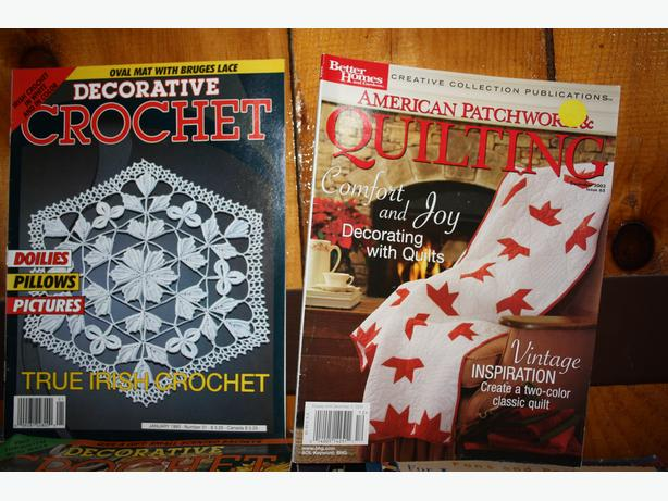Quilting and Crochet Magazines