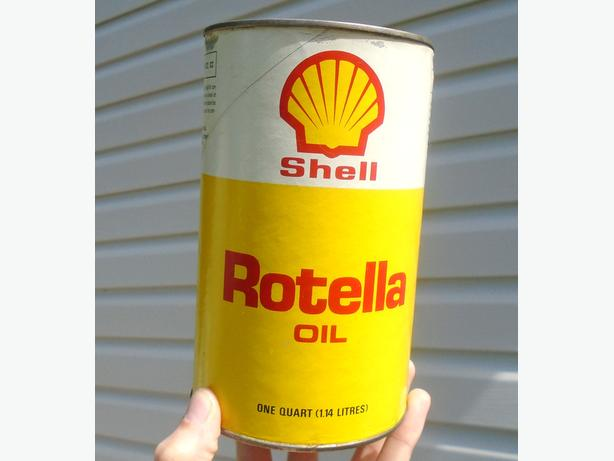 Vintage 1970's Shell Rotella Oil Imperial Quart Can - # 5818