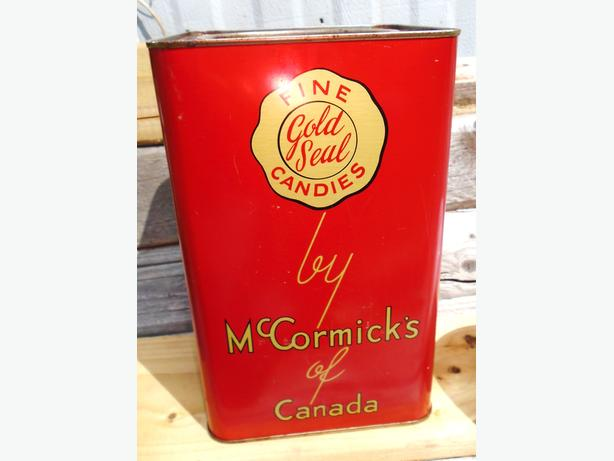 RARE Antique 1930's McCormick's Fine Gold Seal Candy Tin