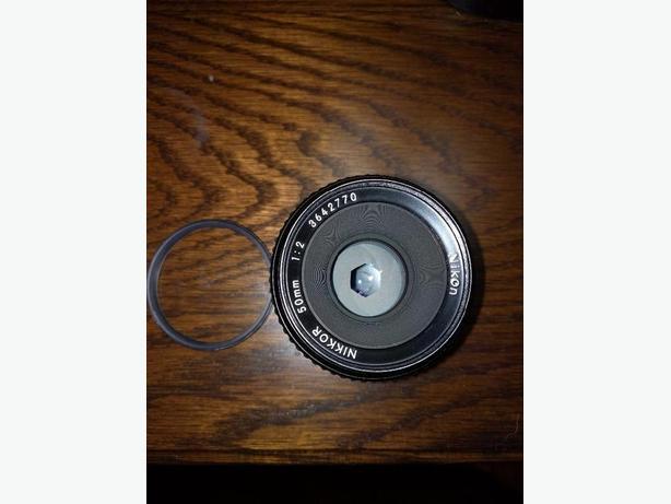 Nikkor 50mm Prime F2 Lens.