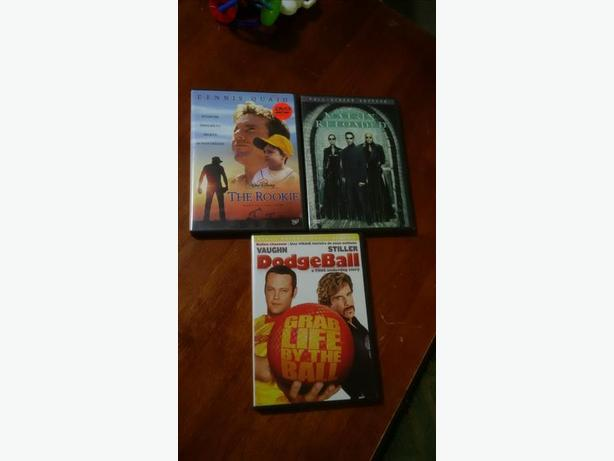 DVD Movies: Matrix Reloaded: The Rookie: Dodgeball