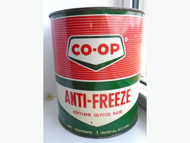 Vintage 1960's CO-OP Anti-freeze Imperial Gallon Can