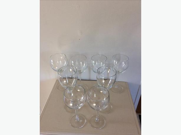 Eight glasses