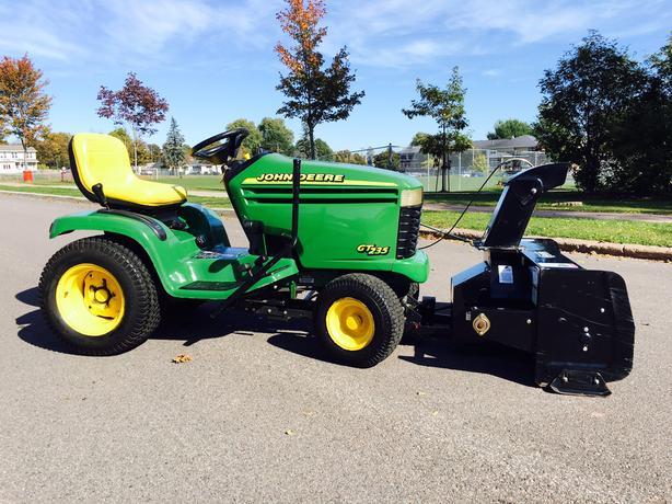 """GT235 John Deere Garden Tractor + 48"""" Snowblower & 48"""" Deck"""
