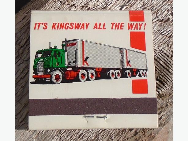 Vintage Kingsway Transports Limited Match Book NOS FULL