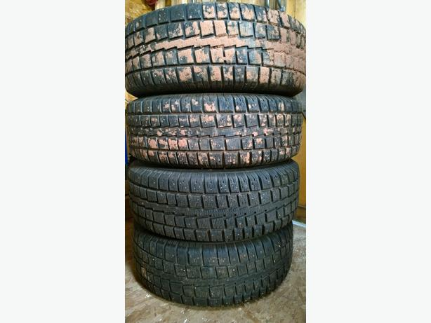 4 x 235/70/16 5x114 Cooper Studded Winter tires on rims