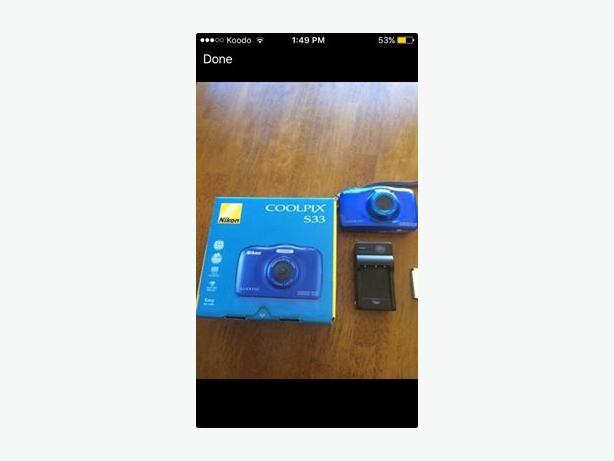 Nikon Coolpix s33 water proof camera