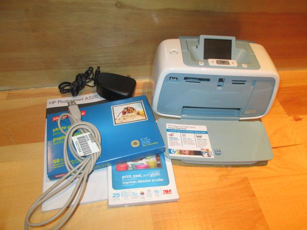 HP photo printer and accessories