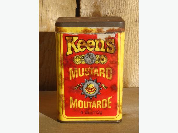 Vintage Keen's Mustard Tin w/ Paper Label