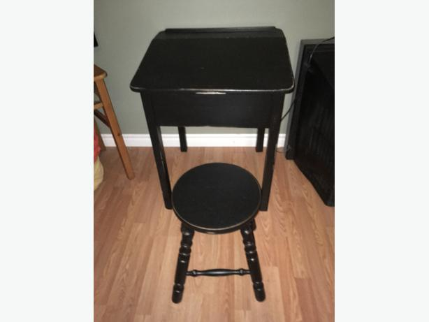 Distressed Desk and Stool