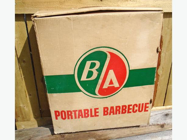 RARE 1960's B/A PORTABLE BARBECUE W/ BOX & INSTRUCTIONS - NOS