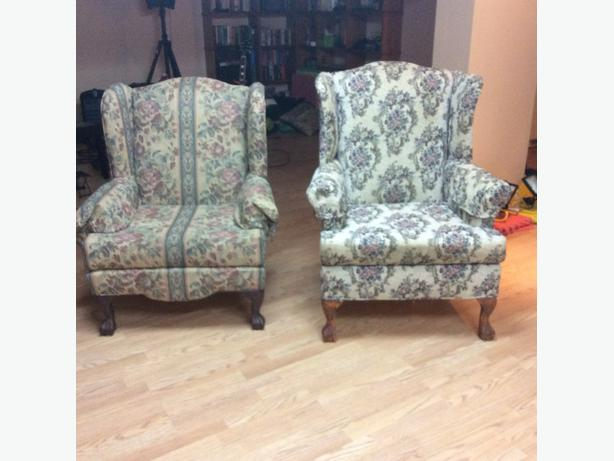 His & Her's Wing Chairs