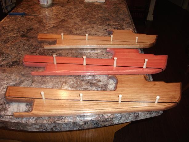 key holders in shape of fishing boat