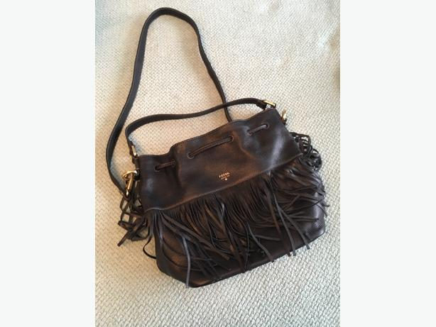 leather Fossil handbag