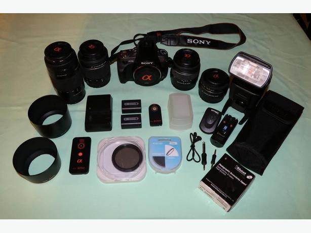 Sony a330 DSLR kit with lots of extras!