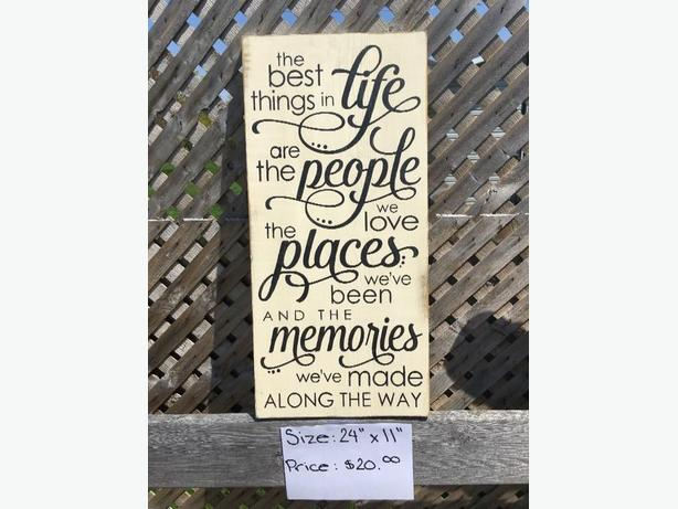 Beautiful Handmade & Hand Painted Wooden Signs