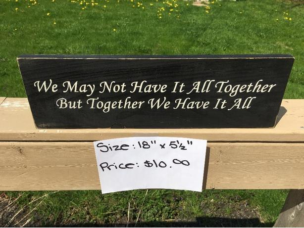 Handmade & Hand Painted Wooden Signs (2)