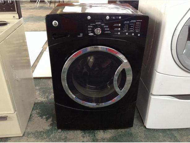 Used GE Front load washer..black. Great shape.
