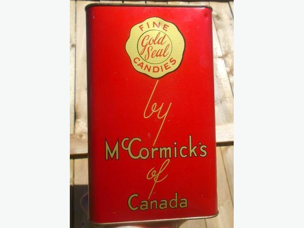 """RARE 1935's VINTAGE McCORMICK'S FINE """"GOLD SEAL"""" CANDIES TIN"""