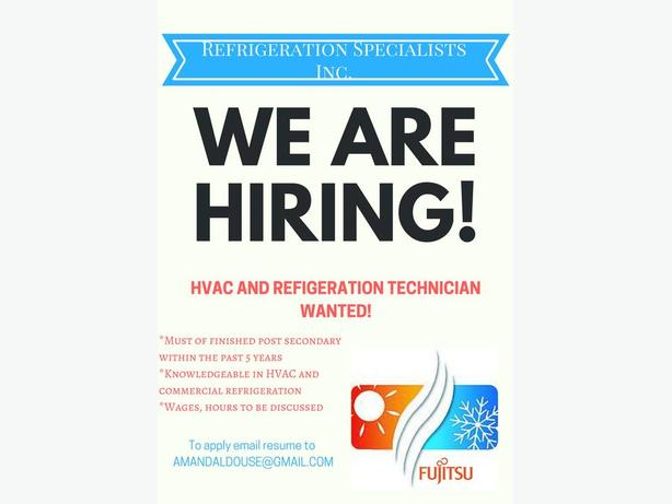 Refrigeration / H-Vac Tech wanted