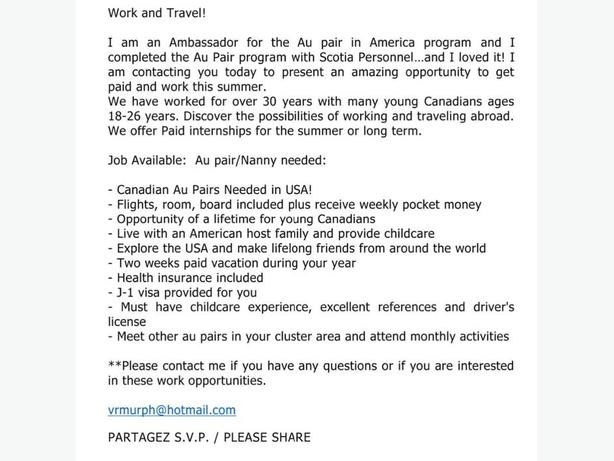 AU PAIRS WANTED